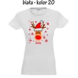 Koszulka Damska - Renifer Ona - Świąteczna
