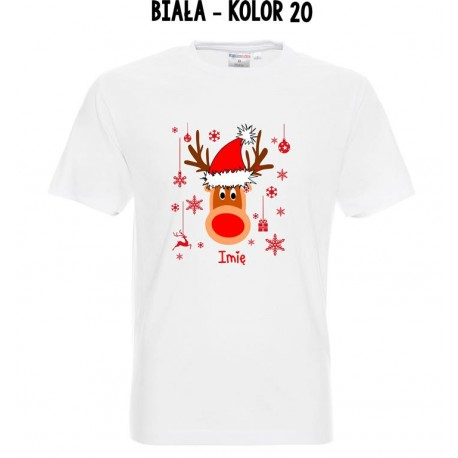 Koszulka Męska - Renifer On - Świąteczna