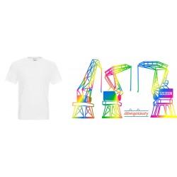 Koszulka Męska - Dźwigozaury tęcza 1
