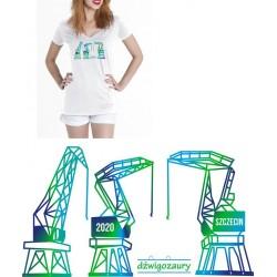 Koszulka Damska - Dźwigozaury v-neck 2 nz