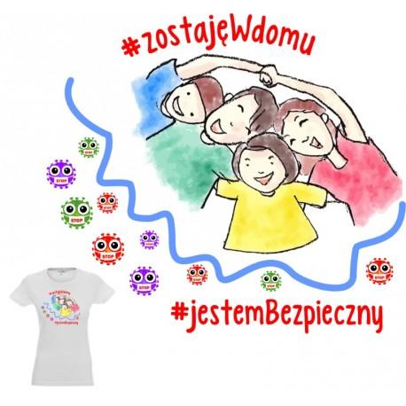 Koszulka damska - Zostaje w domu 2