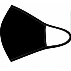 Maseczka czarna bawełniana bez nadruku