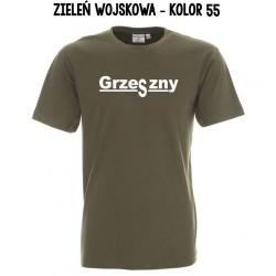 Koszulka Męska - Grzeszny ciemne z białym nadrukiem