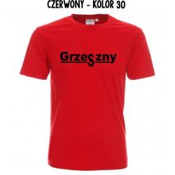 Koszulka Męska - Grzeszny na czarno