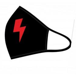 Maseczka z nadrukiem -czerwona strzała