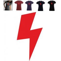 Koszulka Damska - czerwona błyskawica