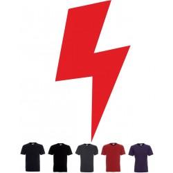 Koszulka Męska - czerwona blyskawica - piorun