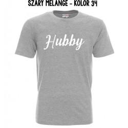 Koszulka Męska - Hubby na biało