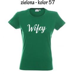 Koszulka Damska - Wifey na biało