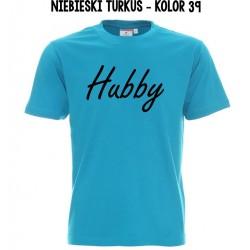 Koszulka Męska - Hubby na czarno