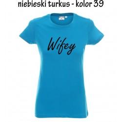 Koszulka Damska - Wifey na czarno