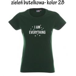 Koszulka Damska - I AM EVERYTHING na biało