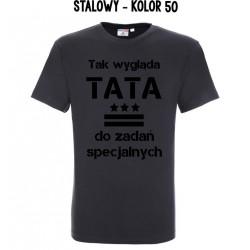 Koszulka Męska - Tak wygląda TATA do zadań specjalnych
