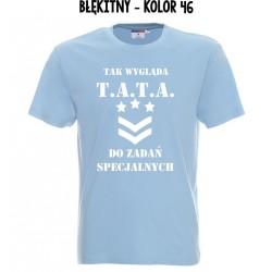 Koszulka Męska - Tak wygląda TATA do zadań specjalnych na biało