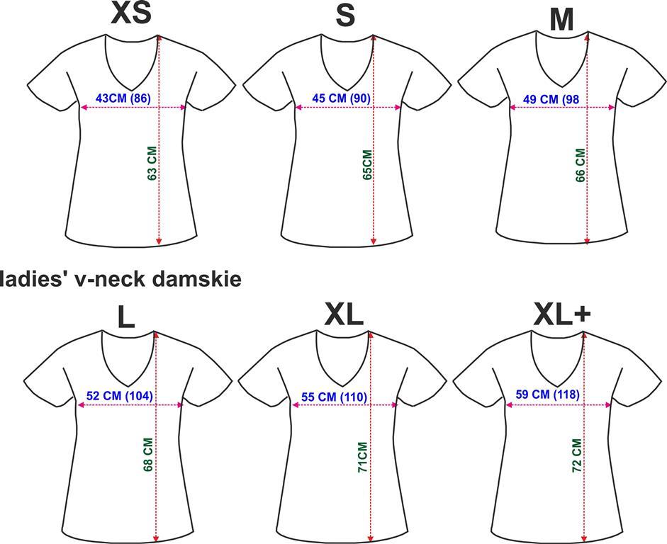 Damskie V-neck