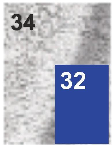 34/32 szary z niebieskim