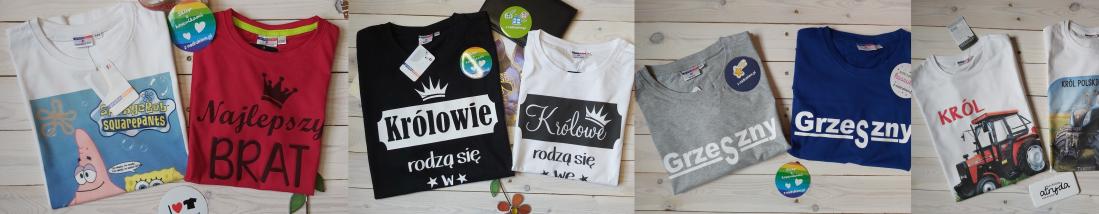 Koszulki z nadrukiem, zdjęcia i propozycje